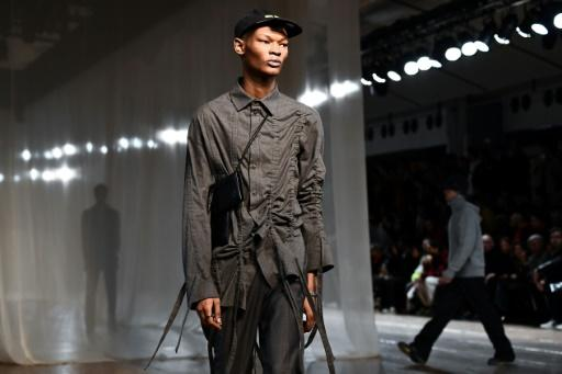 The Off-White collection was sombre and beautifully tailored