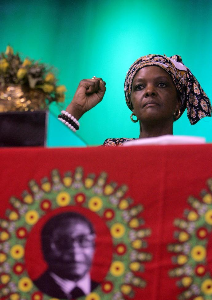 Rumours had swirled that Robert Mugabe might seek to appoint his wife Grace, pictured, to one of Zimbabwe's vice presidential posts (AFP Photo/Jekesai Njikizana)