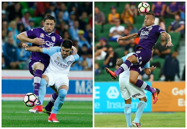 The Brazilian forward believes his nine seasons playing in Turkey has served him well when dealing with A-League defenders