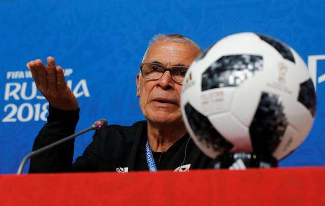 Soccer Football - World Cup - Egypt Press Conference - Saint Petersburg Stadium, Saint Petersburg, Russia - June 18, 2018 Egypt coach Hector Cuper during the press conference REUTERS/Anton Vaganov