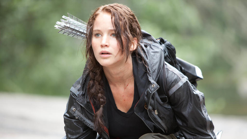 Jennifer Lawrence as Katniss Everdeen in 'The Hunger Games'. (Credit: Lionsgate)