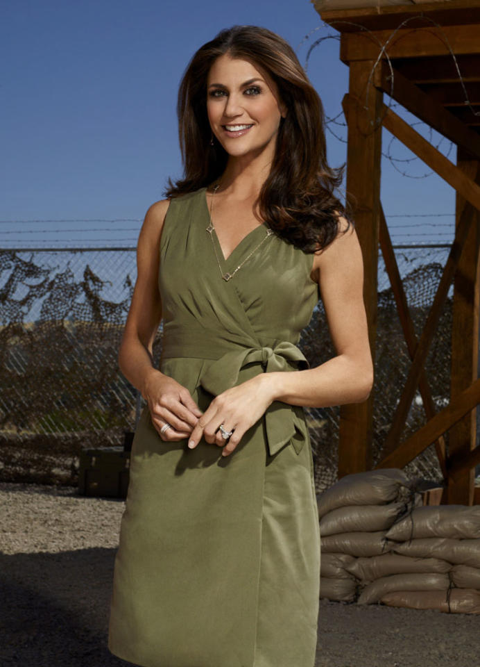 """Samantha Harris (""""Entertainment Tonight,"""" """"Dancing with the Stars"""") co-hosts NBC's """"Stars Earn Stripes."""""""