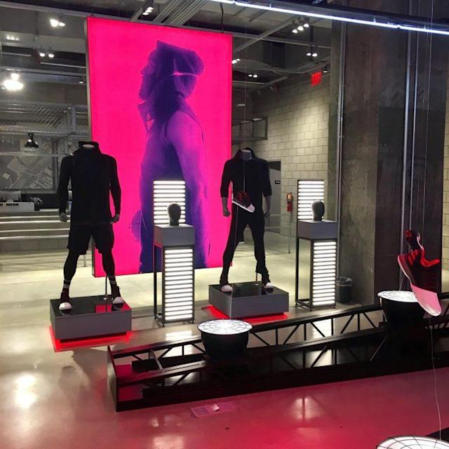 James Harden display in the new Adidas flagship NYC store. (Photo: Daniel Roberts)
