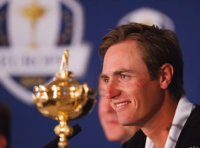 Nicolas Colsaerts, playing with Lee Westwood, made eight birdies and an eagle in a last-hole victory over Tiger Woods and Steve Stricker (Chris Clark/PA)