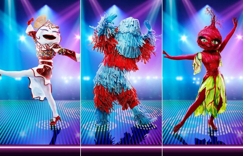 The Masked Dancer's cast of characters include Knickerbocker Glory, Carwash and Beetroot (Photo: ITV)