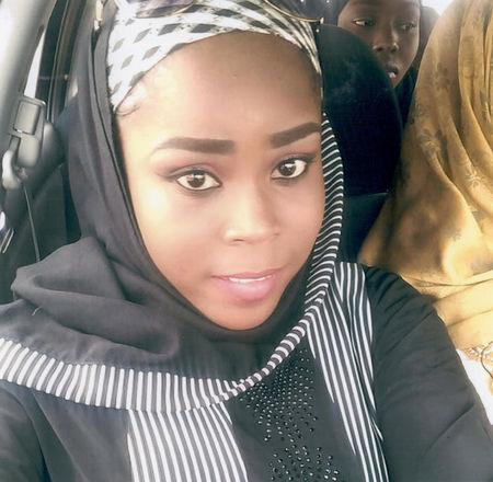 Medical worker Hauwa Mohammed Liman, who was held hostage by Islamic State in Nigeria since March, is pictured in this handout photograph obtained by Reuters on October 14, 2018. ICRC/Handout via REUTERS