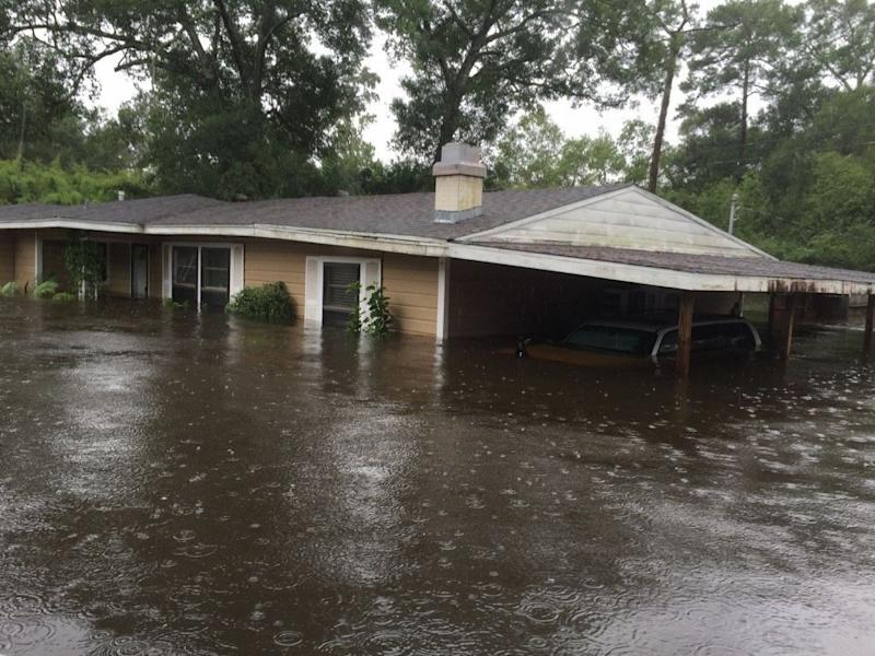 Parry's house in Lumberton, Texas was completely destroyed by the Harvey flooding.  (Kyle Parry)