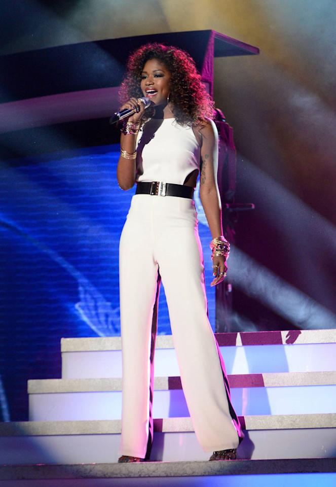 """Amber Holcomb performs """"The Power of Love"""" on the Wednesday, April 24 episode of """"American Idol."""""""
