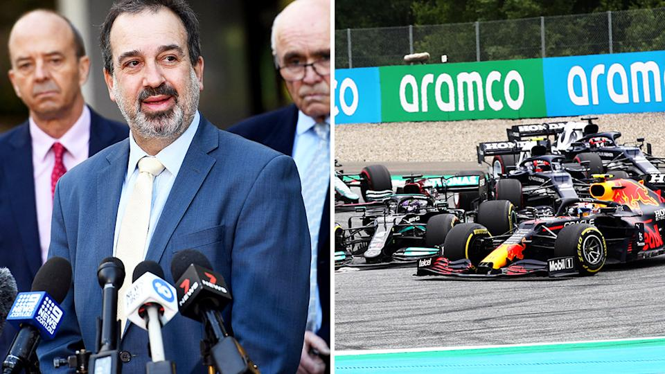 Martin Pakula announced the Victorian government's decision to cancel the upcoming Australian GP on Tuesday, July 6.