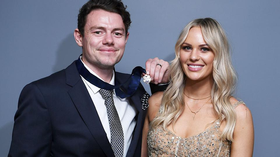 Seen here, 2020 Brownlow Medallist Lachie Neale and wife Julie.