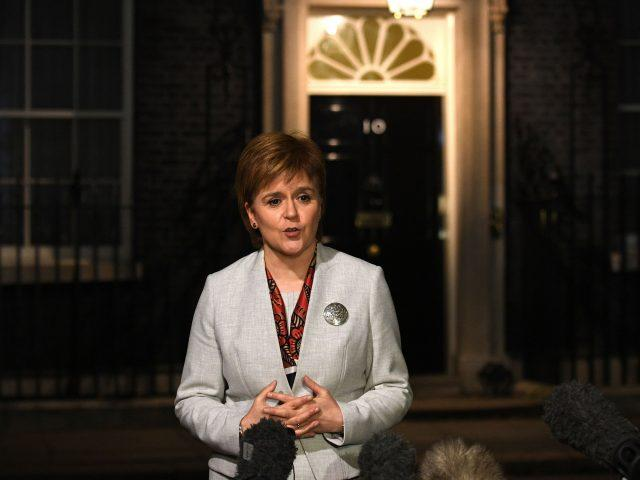 Nicola Sturgeon speaks to reporters after talks with Theresa May