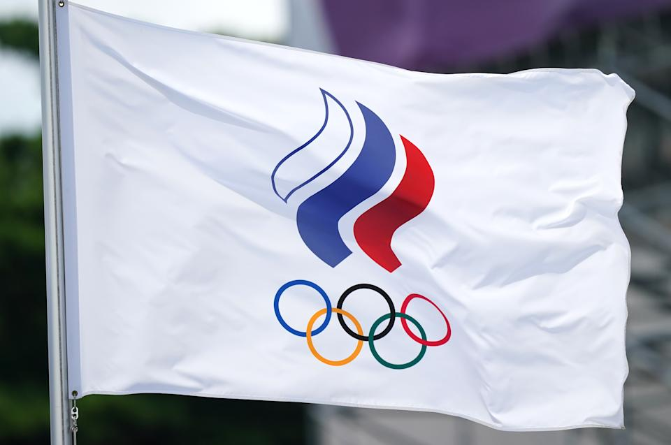 Russian athletes competed under the banner of the