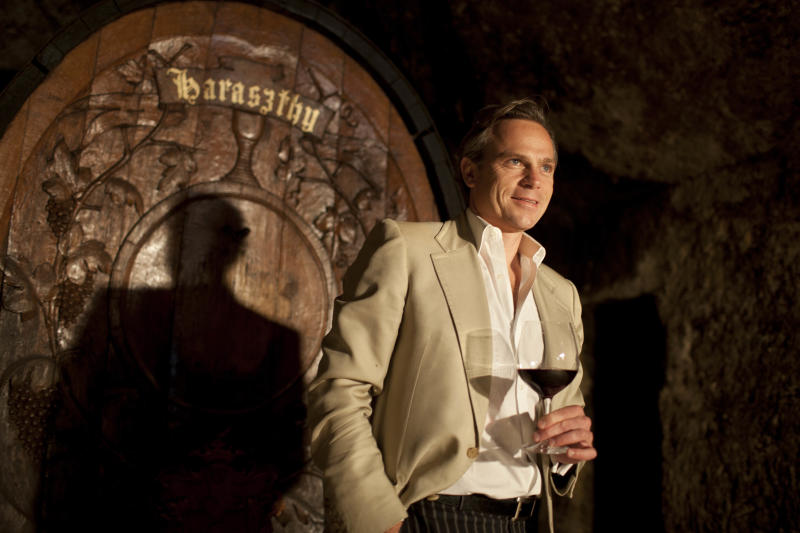 In this photo taken Thursday, Aug. 23, 2012 Jean-Charles Boisset stands inside a cave dating to 1864 and looks out at renovations taking place in the champagne cellar at the Buena Vista Winery in Sonoma, Calif. Many people think the California wine world came of age in 1976 after a famous tasting in Paris put the Golden State's vintages on the world map. But for Boisset, new owner of the state's oldest commercial winery, the state's fine wine making traditions started a century before that. That's why the Burgundian is building the future of 155-year-old Buena Vista Winery, a landmark known as the birthplace of California wine, on its past. He plans to make wines in September in the stately stone buildings and old wine caves for the first time in two decades. (AP Photo/Eric Risberg)