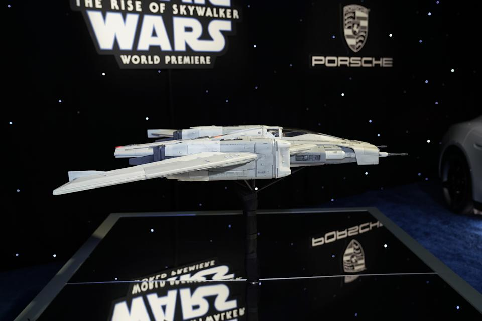 The Tri-Wing model designed by Porsche and LucasFilm December 16, 2019 at the Dolby Theater in Los Angeles (Hesh Photo)