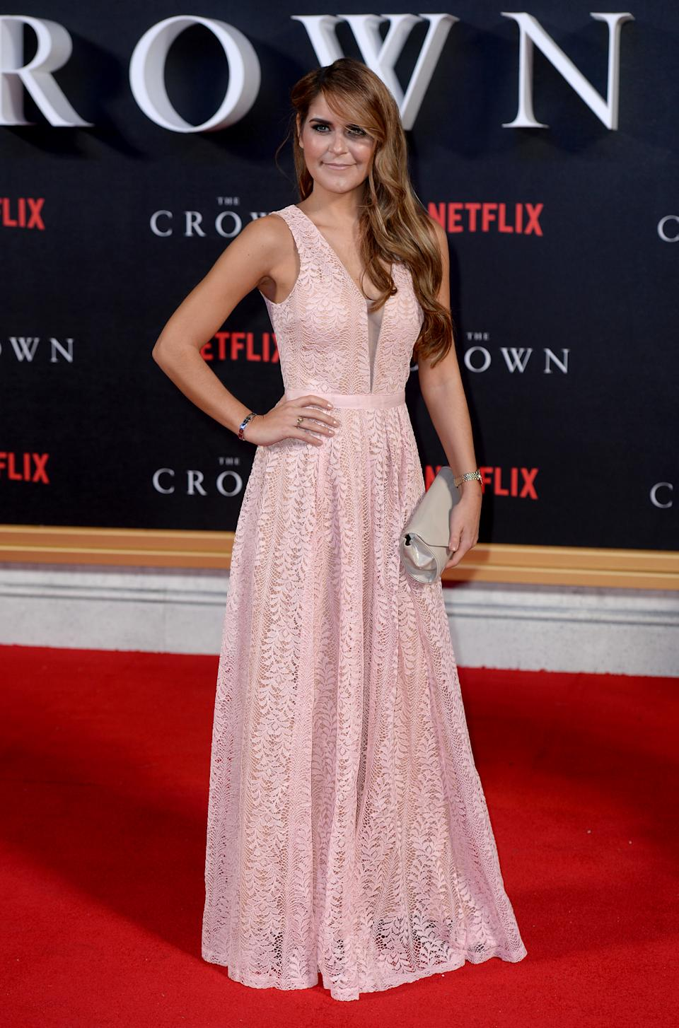 Gemma Oaten attending the premiere of The Crown at Odeon Leicester Square, London. Photo credit should read: Doug Peters/EMPICS Entertainment