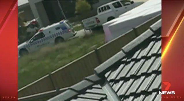 The driver sneaked past a police vehicle. Source: 7News