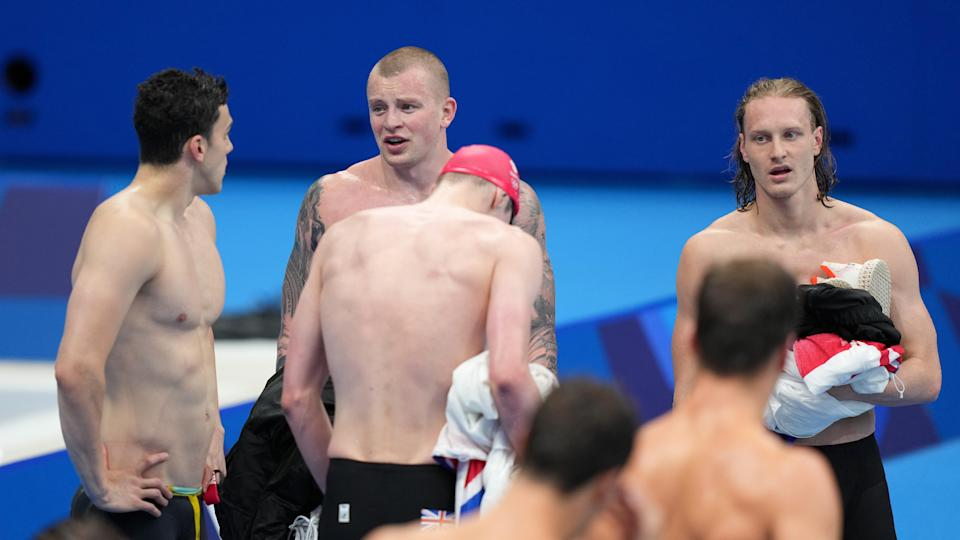 Great Britain finished behind the United States in the men's 4x100m medley relay (Joe Giddens/PA) (PA Wire)