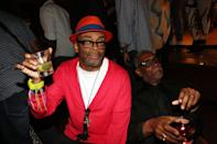 """NEW YORK, NY - JUNE 23: (L-R) Spike Lee and Thomas Jefferson Byrd attend """"Da Sweet Blood Of Jesus"""" cast and crew special screening after party at Hudson Hotel on June 23, 2014 in New York City. (Photo by Johnny Nunez/WireImage)"""