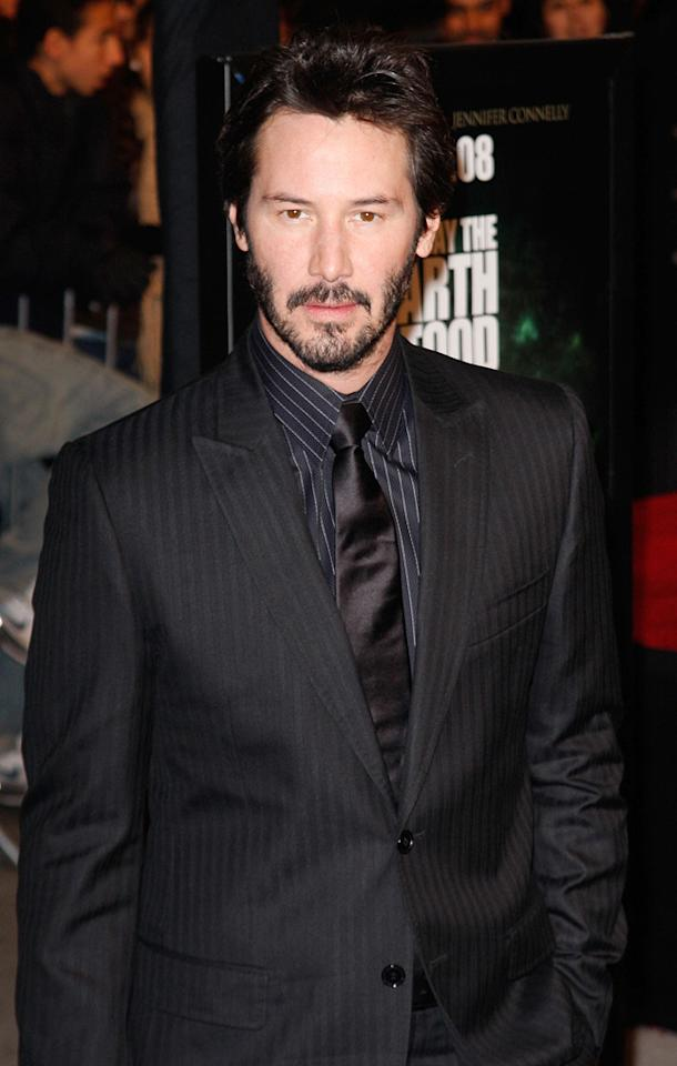 """<a href=""""http://movies.yahoo.com/movie/contributor/1800019596"""">Keanu Reeves</a> at the New York premiere of <a href=""""http://movies.yahoo.com/movie/1809966785/info"""">The Day the Earth Stood Still</a> - 12/09/2008"""
