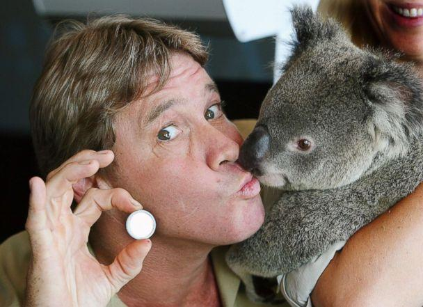 PHOTO: In this file photo, 'Crocodile Hunter' Steve Irwin with 'Luca' the Koala and a legal tender coin released by Perth Mint, Jan. 24, 2006, in Sunshine Coast, Australia. (Newspix/Getty Images, FILE)
