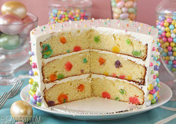"""<p>Of course you want tiny easter eggs all over your cake.</p><p>Get the recipe from <a href=""""http://www.sugarhero.com/easter-polka-dot-cake/#_a5y_p=1525479"""" rel=""""nofollow noopener"""" target=""""_blank"""" data-ylk=""""slk:Sugar Hero"""" class=""""link rapid-noclick-resp"""">Sugar Hero</a>.</p>"""