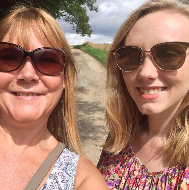 Carole Fowkes, who pictured here with Alexandra Wilshaw, is raising funds to help students with mental health issues.