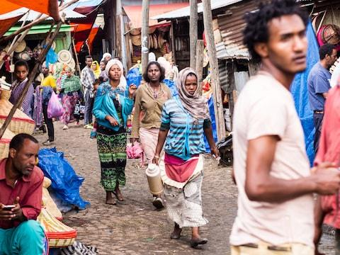 Merkato is Africa's biggest street market - Credit: GETTY