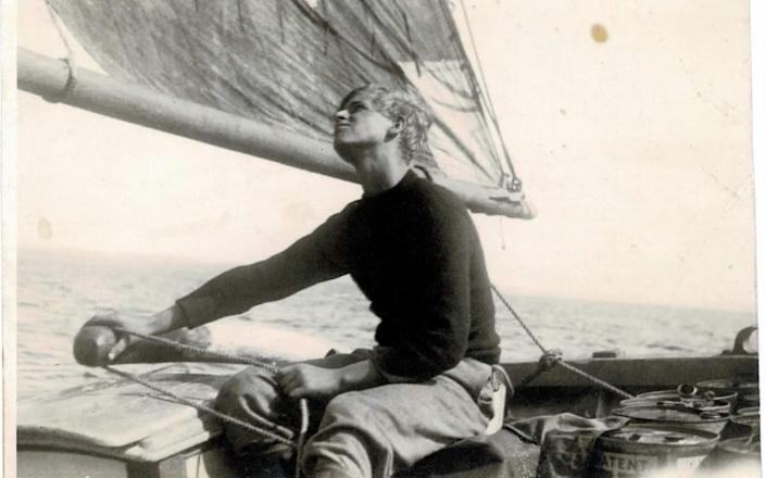 The Duke of Edinburgh in in 1937, sailing one of Gordonstoun's boats, Diligent - Major B Varvill R.A.M.C