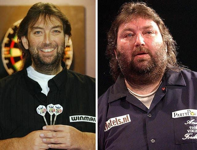 Andy Fordham before and after his weight loss