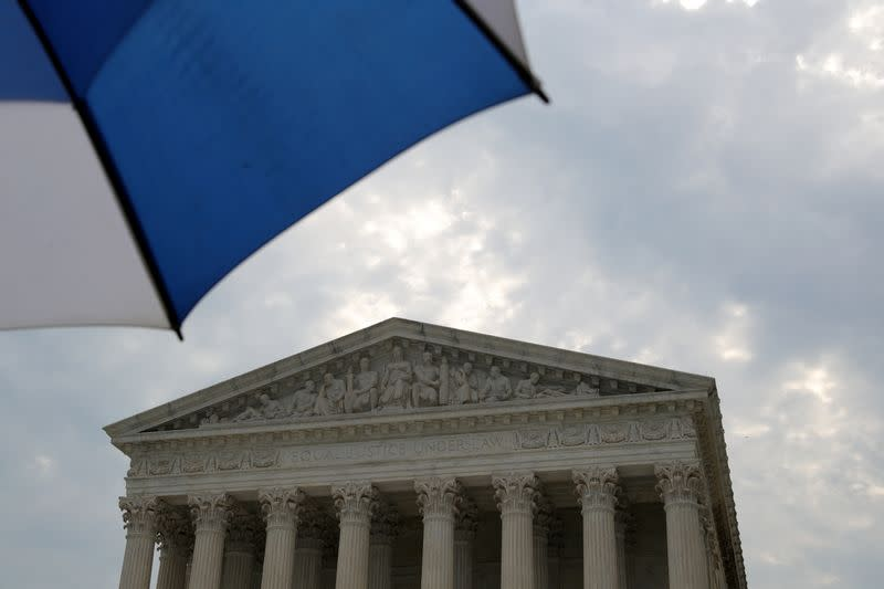 FILE PHOTO: General view of the United States Supreme Court building in Washington