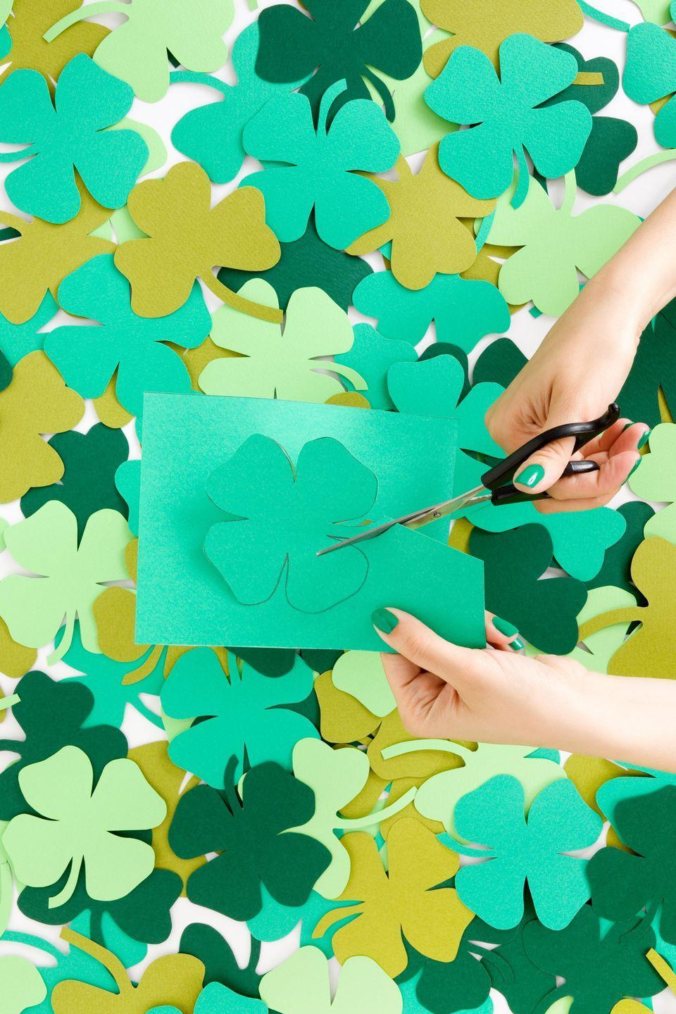 """<p>For a fun-filled afternoon with your kids, plan a crafty St. Patrick's Day. Put together one (or a few!) of the many <a href=""""https://www.countryliving.com/diy-crafts/how-to/g4035/st-patricks-day-crafts/"""" rel=""""nofollow noopener"""" target=""""_blank"""" data-ylk=""""slk:St. Patrick's Day crafts"""" class=""""link rapid-noclick-resp"""">St. Patrick's Day crafts </a>to make some lasting memories with your family this March 17.</p><p><a class=""""link rapid-noclick-resp"""" href=""""https://www.amazon.com/Kid-Made-Modern-Crafts-Library/dp/B07WSJVTR9/?tag=syn-yahoo-20&ascsubtag=%5Bartid%7C10050.g.30796247%5Bsrc%7Cyahoo-us"""" rel=""""nofollow noopener"""" target=""""_blank"""" data-ylk=""""slk:SHOP CRAFT SUPPLIES"""">SHOP CRAFT SUPPLIES</a></p>"""