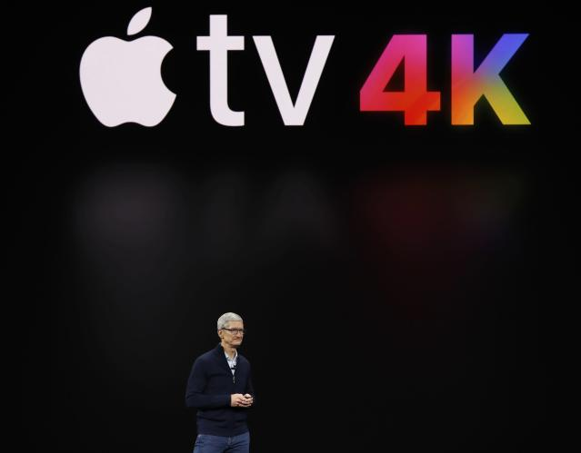<p>Apple also announced Apple TV 4K at the Sept. 12 event. REUTERS/Stephen Lam </p>