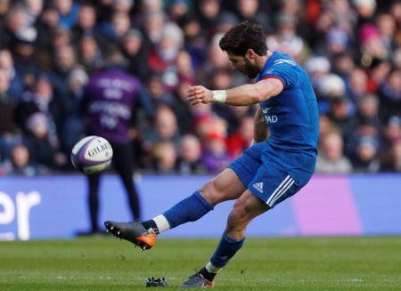 FILE PHOTO: Rugby Union - Six Nations Championship - Scotland vs France - BT Murrayfield, Edinburgh, Britain - February 11, 2018 France's Maxime Machenaud kicks a penalty REUTERS/Russell Cheyne