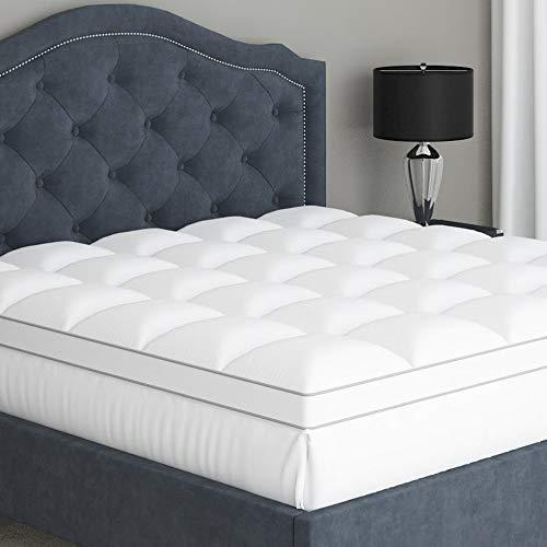 Sleep Mantra Mattress-Topper - Plush Quilted Pillow Top with Down Alternative Fill