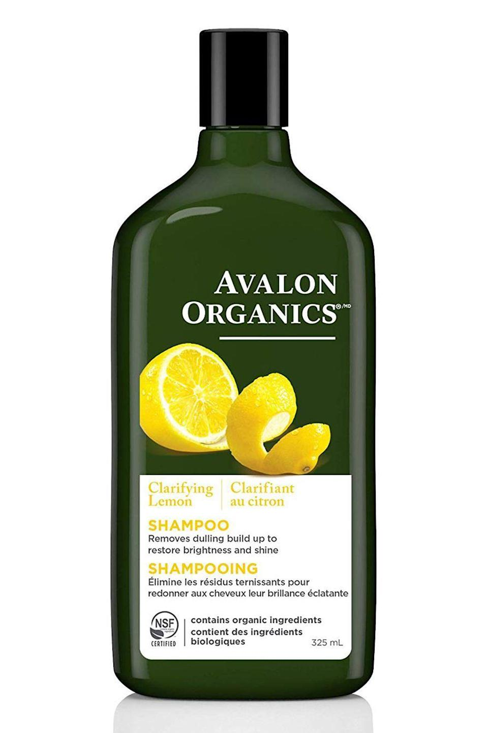"""<p><strong>Avalon Organics</strong></p><p>amazon.com</p><p><strong>$7.16</strong></p><p><a href=""""https://www.amazon.com/dp/B00C0THEEE?tag=syn-yahoo-20&ascsubtag=%5Bartid%7C10049.g.20716291%5Bsrc%7Cyahoo-us"""" rel=""""nofollow noopener"""" target=""""_blank"""" data-ylk=""""slk:Shop Now"""" class=""""link rapid-noclick-resp"""">Shop Now</a></p><p>Made with all-natural ingredients like lemon oil, aloe, and vitamin E, this <a href=""""https://www.cosmopolitan.com/style-beauty/beauty/g22740377/organic-shampoo/"""" rel=""""nofollow noopener"""" target=""""_blank"""" data-ylk=""""slk:organic shampoo"""" class=""""link rapid-noclick-resp"""">organic shampoo</a> is <a href=""""https://www.ewg.org/"""" rel=""""nofollow noopener"""" target=""""_blank"""" data-ylk=""""slk:EWG-certified"""" class=""""link rapid-noclick-resp"""">EWG-certified</a> and ideal for anyone wants to remove product build-up and <strong>green-ify their curl routine</strong> in the process.</p>"""