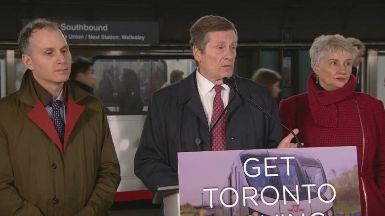 Mayor says Ontario must step up if Toronto is to get downtown relief line