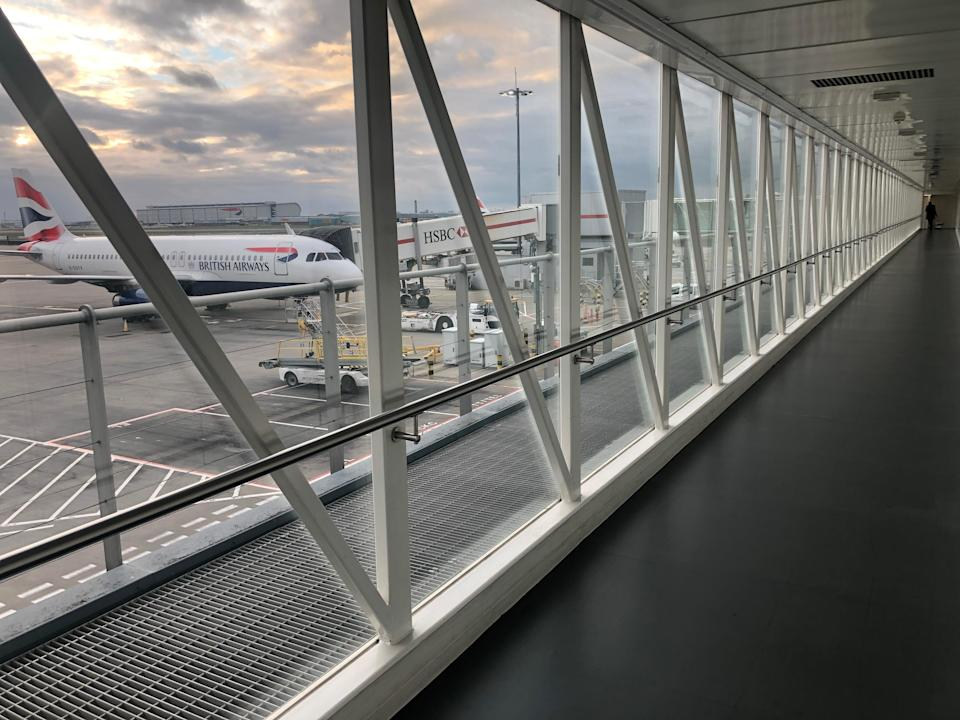 Empty quarter: Terminal 5 at Heathrow airport, the busiest in Britain (Simon Calder)