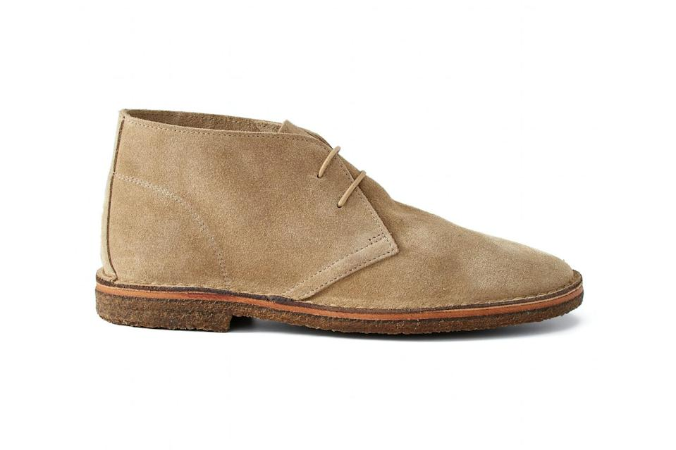"$150, Huckberry. <a href=""https://huckberry.com/store/rhodes/category/p/59366-dylan-chukka"" rel=""nofollow noopener"" target=""_blank"" data-ylk=""slk:Get it now!"" class=""link rapid-noclick-resp"">Get it now!</a>"