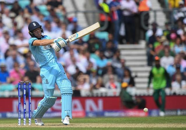 England's Jos Buttler is a fitness doubt for the West Indies clash (AFP Photo/Dibyangshu SARKAR)