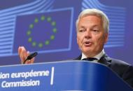 News conference on General Protection Data Regulation in Brussels