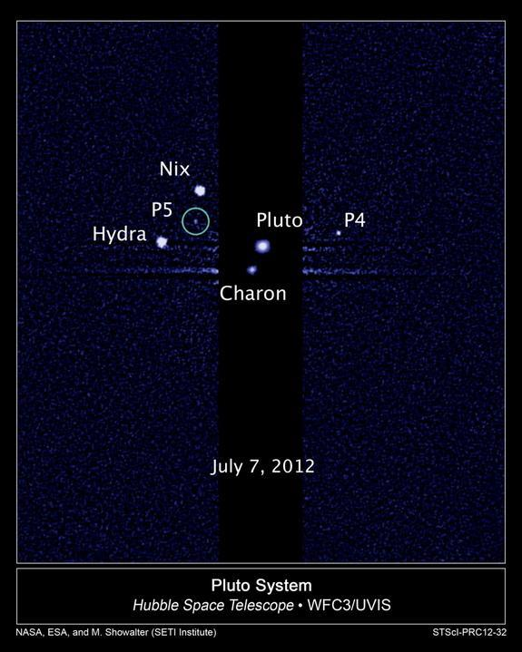 NASA's Hubble Telescope discovered four of Pluto's five known moons.