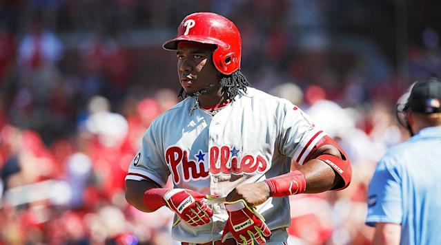 """<p>You should never expect too much in a rebuilding season. Wins will be tough to come by. Playoff contention? Forget about it. The one thing you hope to see when your team is bottoming out and looking toward the future is progress from your most promising young players.</p><p>The Phillies have had no such good fortune. Odubel Herrera, Jerad Eickhoff, Vince Velasquez, and Aaron Nola have all fallen short of expectations this season, due to poor performance, injuries, or both. The most infuriating of the bunch, though, has been Maikel Franco.</p><p>Ace Phillies beat writer Matt Gelb <a href=""""http://www.philly.com/philly/sports/phillies/maikel-franco-when-ahead-in-the-count-has-not-produced-20170615.html"""" rel=""""nofollow noopener"""" target=""""_blank"""" data-ylk=""""slk:has the details on Franco"""" class=""""link rapid-noclick-resp"""">has the details on Franco</a>, and they're not pretty: The league as a whole hits like Joey Votto when ahead in the count...Franco hits like a pitcher in those situations. Hitting coach Matt Stairs said the team grew so frustrated at one point with Franco taking weak swings at bad pitches when ahead in the count, the Phils actually considered giving him the red light on 2–0 counts. But hey, there's a silver lining: Franco falls behind on the first pitch more often than <a href=""""http://www.fangraphs.com/leaders.aspx?pos=all&stats=bat≶=nl&qual=y&type=5&season=2017&month=0&season1=2017&ind=0&team=0&rost=0&age=0&filter=&players=0&sort=10,d"""" rel=""""nofollow noopener"""" target=""""_blank"""" data-ylk=""""slk:all but 15 National League hitters"""" class=""""link rapid-noclick-resp"""">all but 15 National League hitters</a>, so he's getting fewer opportunities to turn those 2–0 counts into four-hoppers to third.</p><p>Still just 24 years old and coming off a 25-homer season, Franco still offers hope for a better tomorrow. But he's also been the <a href=""""http://www.fangraphs.com/leaders.aspx?pos=all&stats=bat≶=nl&qual=y&type=8&season=2017&month=0&season1=2017&ind=0&team=0&rost=0&age=0&f"""