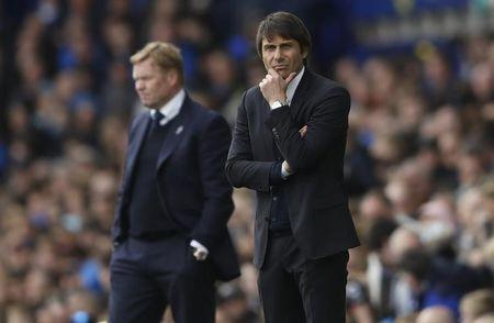 Chelsea manager Antonio Conte and Everton manager Ronald Koeman