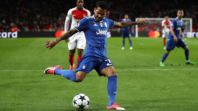 The Brazilian right-back notched a brace of assists for Juve in their semi-final first leg against Monaco, a first in his illustrious career