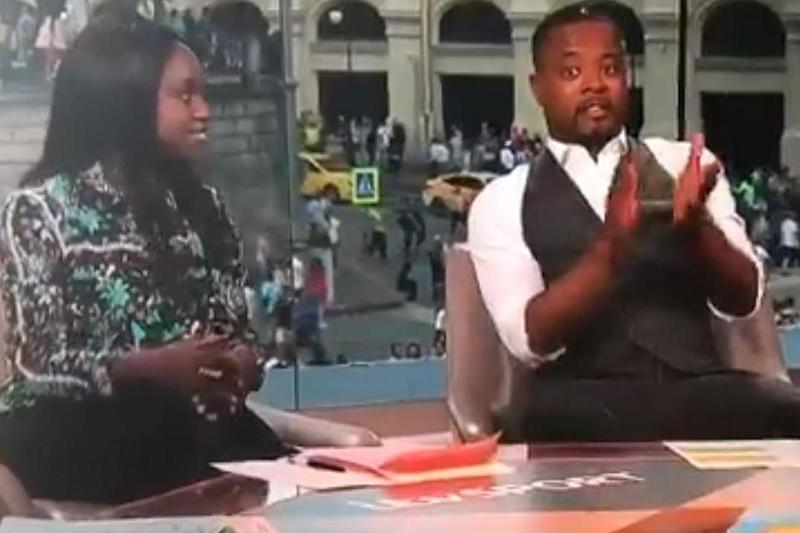 Patrice Evra accused of being 'utterly patronising' as he APPLAUDS co-pundit Eni Aluko for her analysis