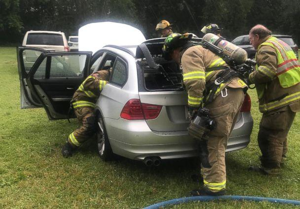 PHOTO: Lynn Wrench received a recall notice for her 2011 BMW 328i xDrive in 2017. While she was waiting for the fix to become available, her car caught on fire while she says it was parked and turned off near her home in Wisconsin. (Courtesy Lynn Wrench)