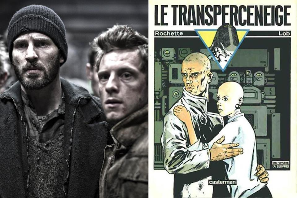 """<p>A post-apocalyptic story people actually enjoy. Based on the French graphic novel <i>Le Transperceneige</i>, the 2013 film <a href=""""https://ew.com/creative-work/snowpiercer-movie/"""" rel=""""nofollow noopener"""" target=""""_blank"""" data-ylk=""""slk:Snowpiercer"""" class=""""link rapid-noclick-resp""""><i>Snowpiercer</i></a> tells the story of a revolution on the train where humanity's remnants live after a second ice age. Director <a href=""""https://ew.com/tag/bong-joon-ho/"""" rel=""""nofollow noopener"""" target=""""_blank"""" data-ylk=""""slk:Bong Joon Ho"""" class=""""link rapid-noclick-resp"""">Bong Joon Ho</a>'s English-language debut depicts how even after the world ends, the issues facing the last refugees — class divides, segregation, and uprising — don't just go away because mankind is facing extinction, as revolutionary leader Curtis (<a href=""""https://ew.com/tag/chris-evans/"""" rel=""""nofollow noopener"""" target=""""_blank"""" data-ylk=""""slk:Chris Evans"""" class=""""link rapid-noclick-resp"""">Chris Evans</a>) battles the controlling Mason (an almost unrecognizable <a href=""""https://ew.com/tag/tilda-swinton/"""" rel=""""nofollow noopener"""" target=""""_blank"""" data-ylk=""""slk:Tilda Swinton"""" class=""""link rapid-noclick-resp"""">Tilda Swinton</a>) who works to keep the train and oppressive system propelling it forward moving. <i>Snowpiercer</i> was praised for its visually striking style <a href=""""https://ew.com/article/2014/06/26/snowpiercer-bong-chris-evans-weinstein/"""" rel=""""nofollow noopener"""" target=""""_blank"""" data-ylk=""""slk:and the director's deep respect for the source material"""" class=""""link rapid-noclick-resp"""">and the director's deep respect for the source material</a>, which until the film's release, had only been available in French and Korean. </p>"""