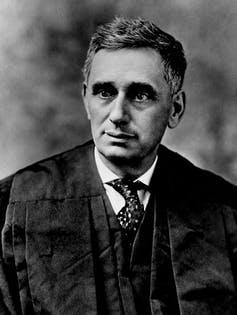 "<span class=""caption"">Anti-Semitism accompanied the appointment of the Supreme Court's first Jewish justice, Louis Brandeis.</span> <span class=""attribution""><a class=""link rapid-noclick-resp"" href=""https://newsroom.ap.org/detail/LOUISDEMBITZBRANDEIS/eeec64432ee4da11af9f0014c2589dfb/photo?Query=louis%20AND%20brandeis&mediaType=photo&sortBy=&dateRange=Anytime&totalCount=51&currentItemNo=0"" rel=""nofollow noopener"" target=""_blank"" data-ylk=""slk:AP Photo"">AP Photo</a></span>"
