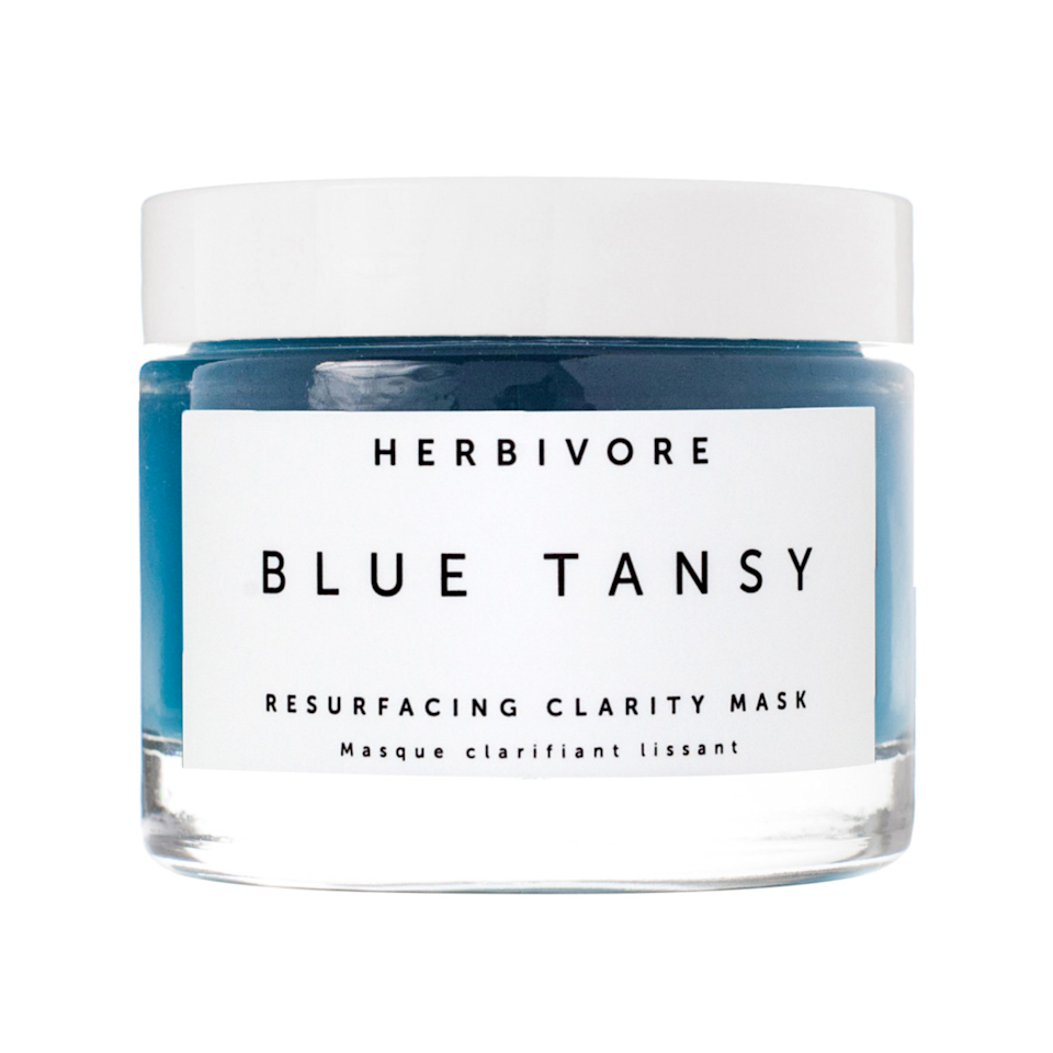 """<p>The serious tingle factor from Herbivore Botanicals's Blue Tansy Resurfacing Clarity Mask will let you know it's working. And thanks to the alpha and beta hydroxy acids and white willow bark, skin will be left looking and feeling smooth post-rinse and beyond.</p> <p><strong>$48</strong> (<a href=""""https://shop-links.co/1701772290861065421"""" rel=""""nofollow noopener"""" target=""""_blank"""" data-ylk=""""slk:Shop Now"""" class=""""link rapid-noclick-resp"""">Shop Now</a>)</p>"""