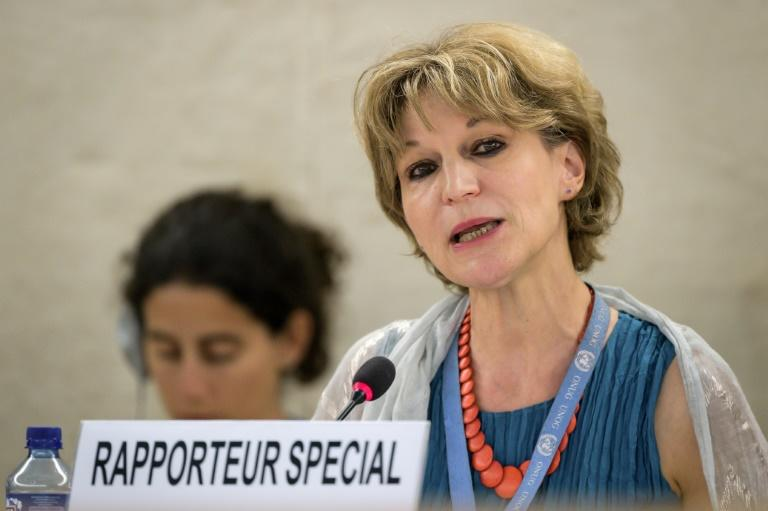 """The inquiry has found credible evidence, warranting further investigation, of high-level Saudi officials' liability, including that of the crown prince of Saudi Arabia,"" rapporteur Agnes Callamard said (AFP Photo/FABRICE COFFRINI)"